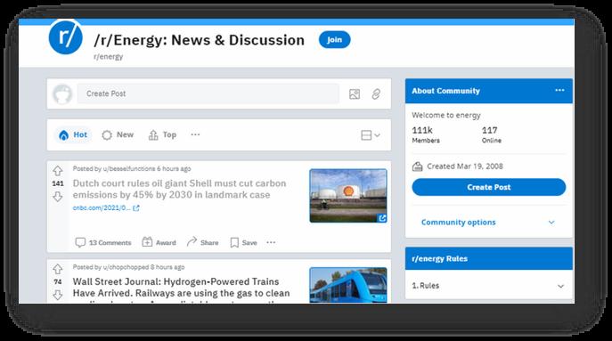 Renewable Energy Sub-Reddit