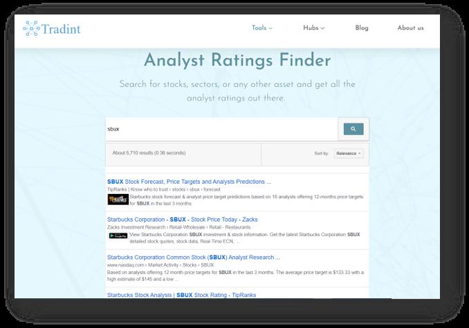 Analyst Rating Finder