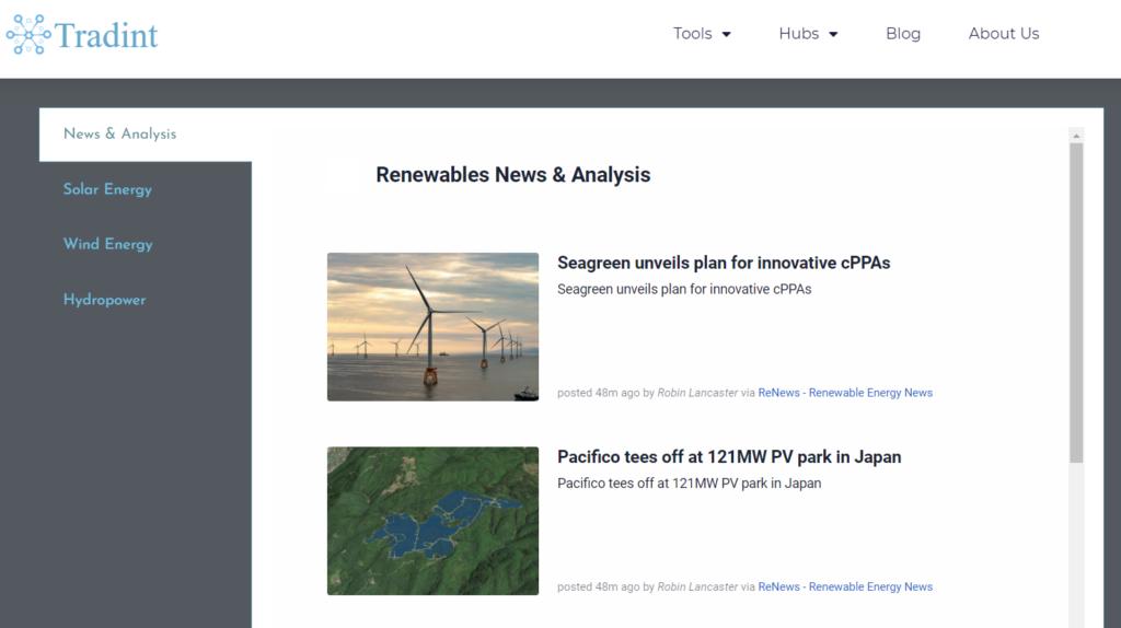 Renewable Energy News and analysis feed
